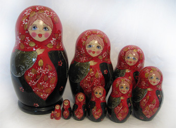 10 Piece Russian Doll Sets